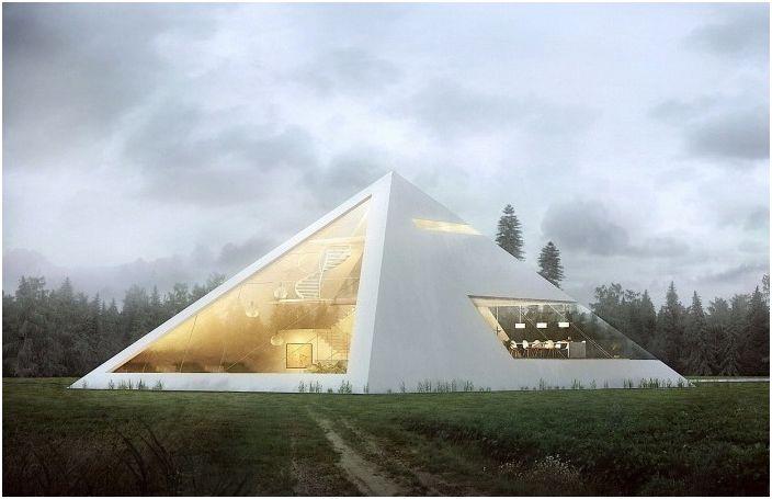Concept de maison pyramidale de l'architecte Juan Carlos Ramos.