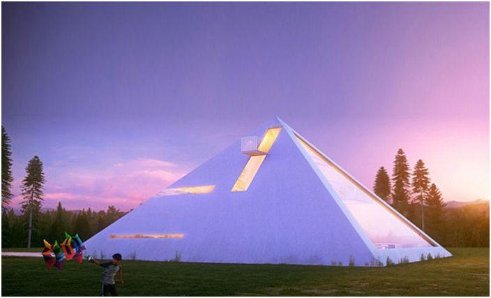 Concept de bâtiment résidentiel futuriste.