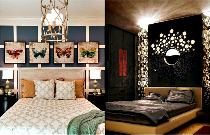 Jasne pomysły na dekoracje ścienne na czele łóżka.