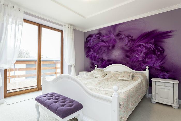 Фото тапет в интериора на спалнята.