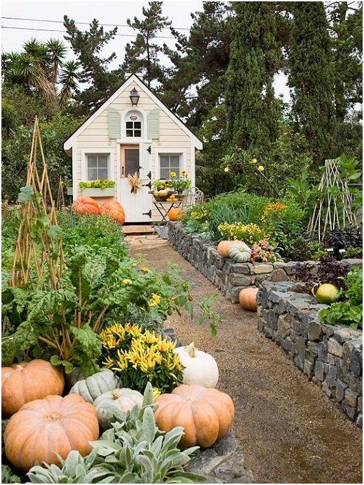 Изключителна приказна градина с каменни легла просто и хубаво ще се впише във всеки двор.