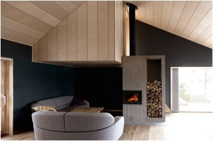 Ваканционен дом в Норвегия. Вътрешните работи.