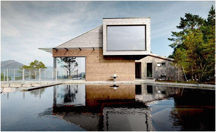 Ваканционен дом в Норвегия. Басейн.