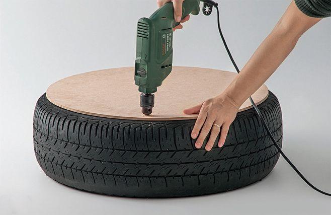 Направи си сам тахта от гуми
