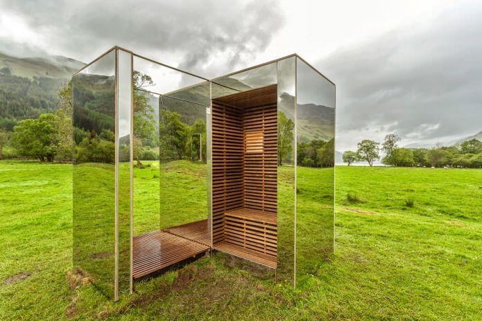 Раствориться в ландшафте: 8 зданий с зеркальными фасадами
