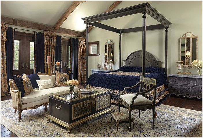 Wnętrze sypialni Edwin Pepper Interiors