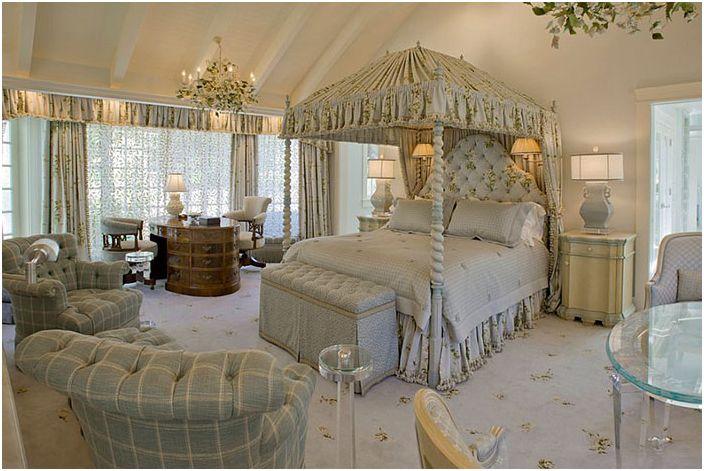 Wnętrze sypialni księżniczki autorstwa Indivara Sivanathana