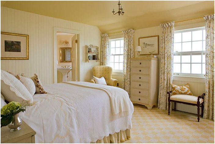 Wiktoriańskie wnętrze sypialni zaprojektowane przez Elizabeth Brosnan Hourihan Interiors