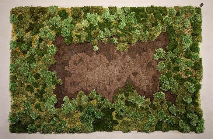 Интериорен килим в еко стил