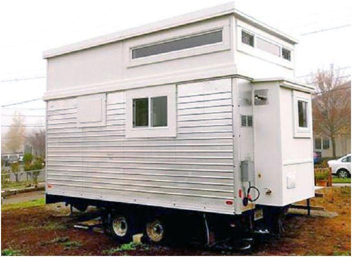 Къща за ремаркета с площ от 18,5 кв. м.