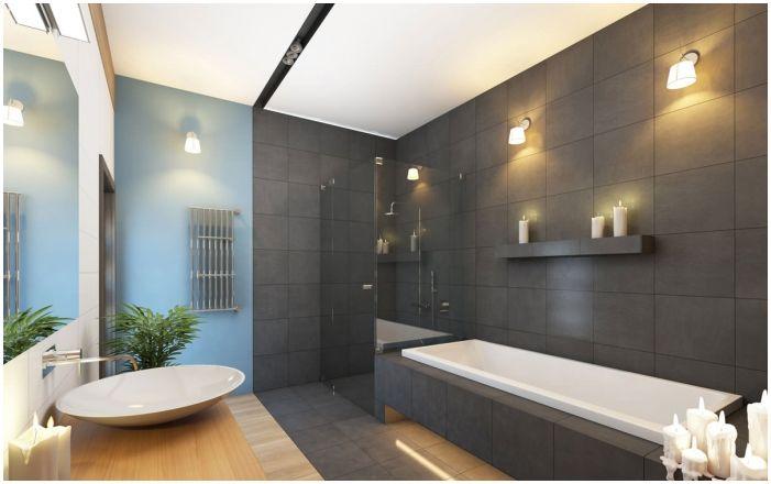Сиви плочки за баня