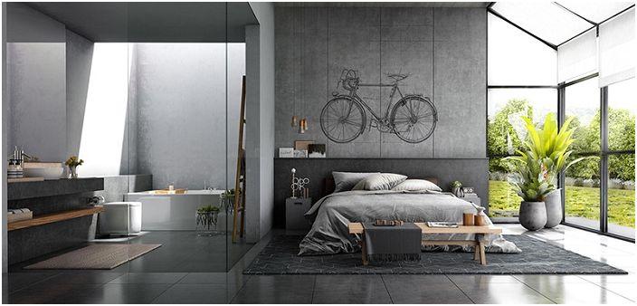 Добър вариант за декориране на стената в спалнята е да създадете там тематична рисунка.
