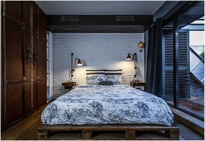 Świetna opcja na udekorowanie łóżka i umieszczenie go na europalecie.