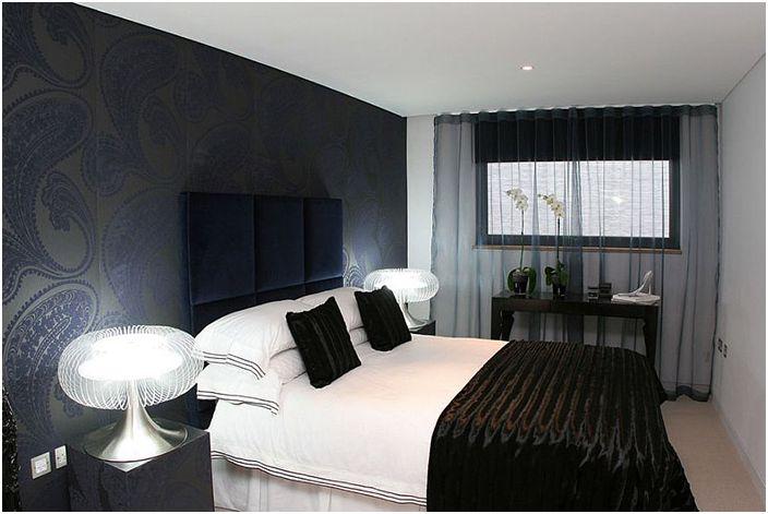 Wnętrze sypialni autorstwa Sacha Jacq Interiors