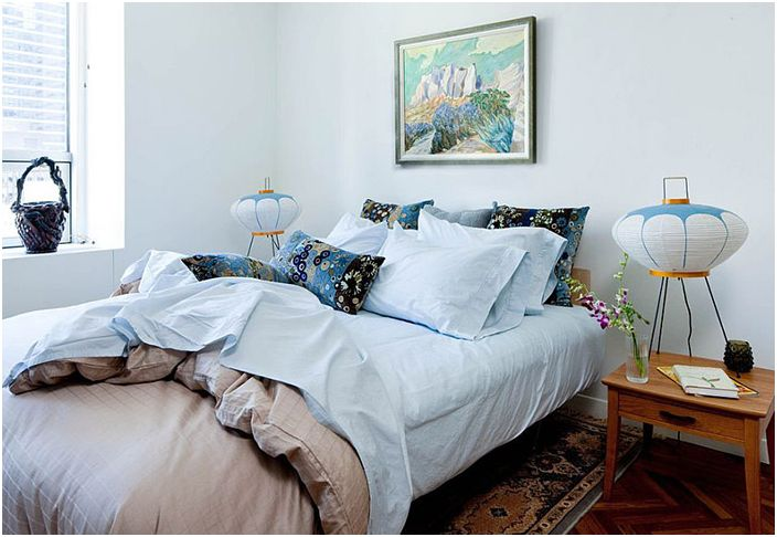 Wnętrze sypialni autorstwa Kristen Rivoli Interior Design