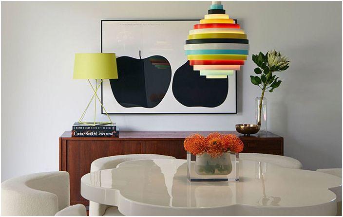 Wnętrze jadalni autorstwa Alison Damonte Design