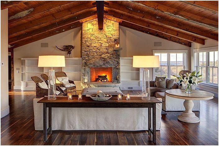 Wnętrze salonu wykonane przez ullivan + Associates Architects