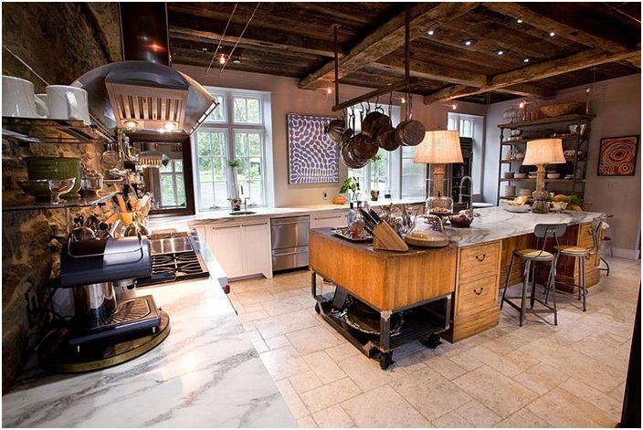Kuchnia przemysłowa firmy Jarrett Design