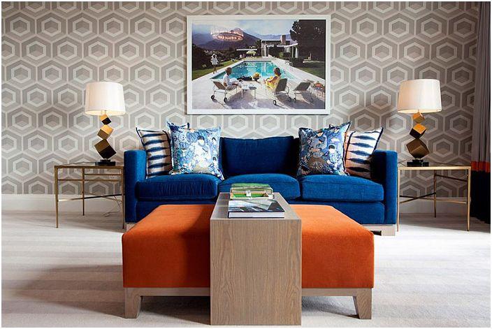 Wnętrze salonu autorstwa Malcolma Duffin Interior Design
