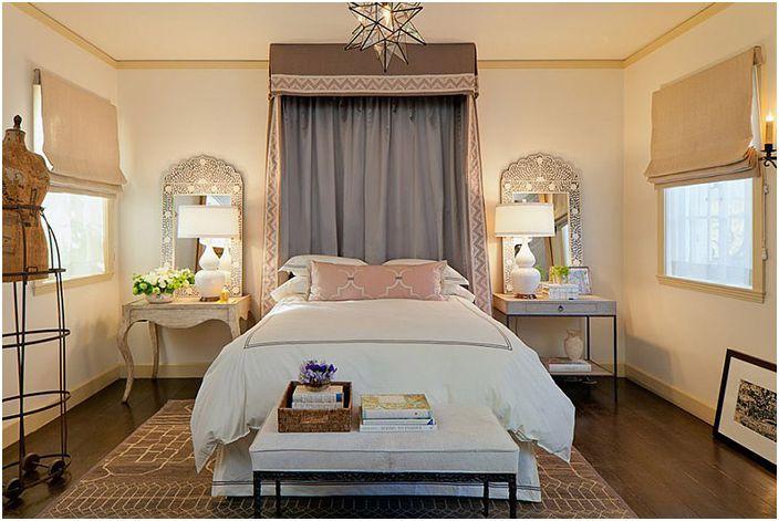 Wnętrze sypialni autorstwa Laury Martin Bovard