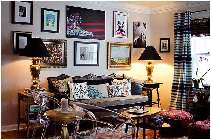 Wnętrze salonu autorstwa Jessiki McKay
