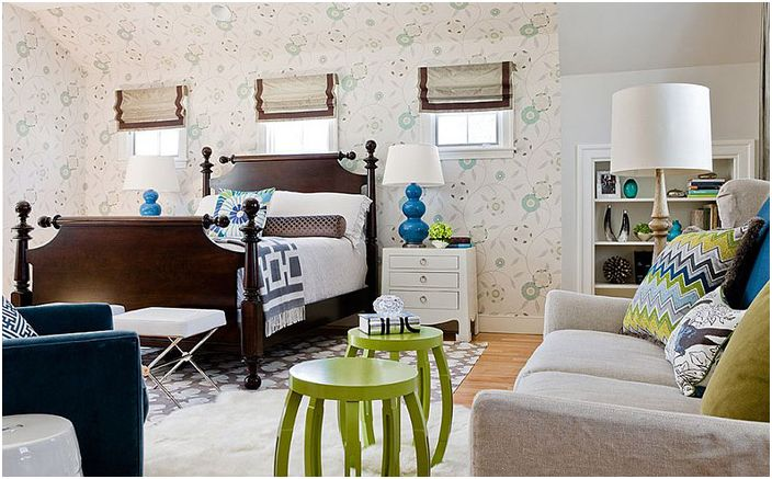 Wnętrze sypialni autorstwa Rachel Reider Interiors