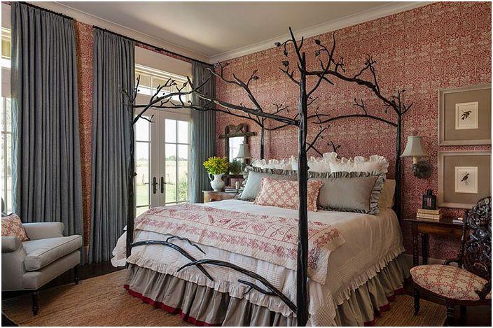 Спалня във фермерски стил от интериорен дизайн Maison Maison
