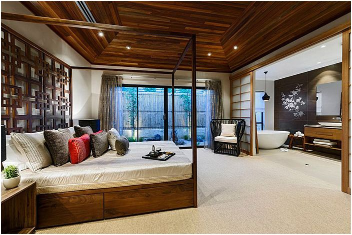 Huge Asian Bedroom av Webb & Brown-Neaves