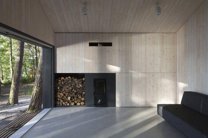 Minimalistyczny wystrój małego prywatnego domu