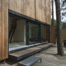 Nowoczesny projekt małego prywatnego domu w lesie-1