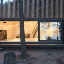 Nowoczesny projekt małego prywatnego domu w lesie-3