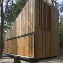 Nowoczesny projekt małego prywatnego domu w lesie-6