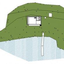 Nowoczesny projekt małego prywatnego domu w lesie-7