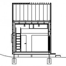 Nowoczesny projekt małego prywatnego domu w lesie-11