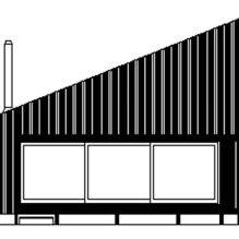 Nowoczesny projekt małego prywatnego domu w lesie-12