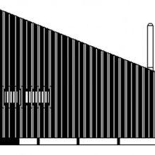 Nowoczesny projekt małego prywatnego domu w lesie-13
