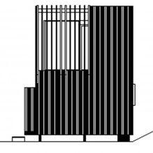 Nowoczesny projekt małego prywatnego domu w lesie-14