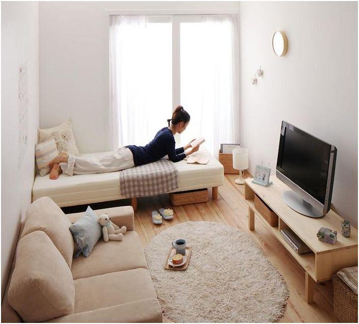 Bardzo mały salon-sypialnia