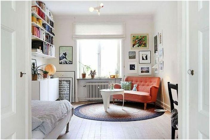 Ъглов диван е чудесен начин да спестите място и да използвате ъгъла.