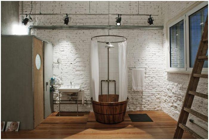 Лофт стил в банята