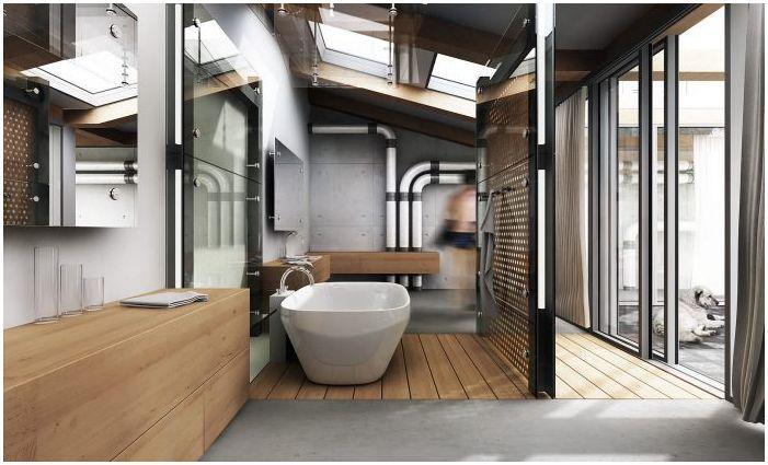 Таванско помещение в банята