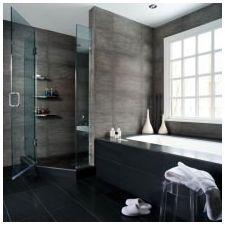 Стиль минимализм в ванной комнате: особенности, фото-6