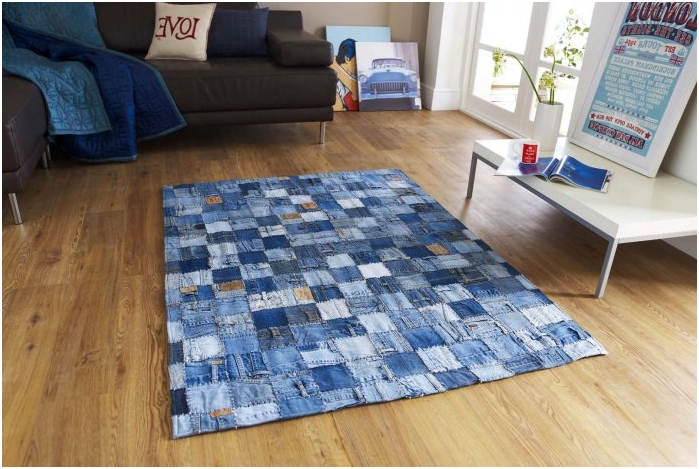dywan w stylu patchwork we wnętrzu