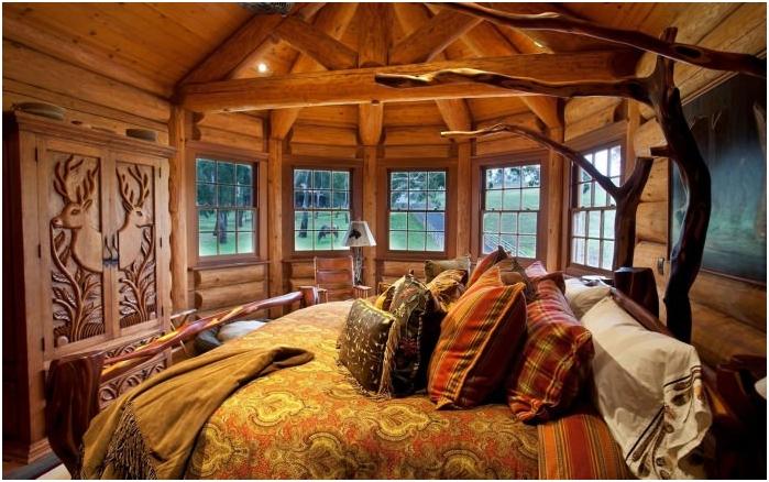 селски стил в интериора на спалнята