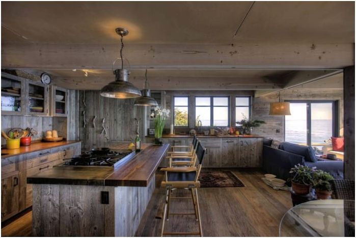 styl rustykalny we wnętrzu kuchni