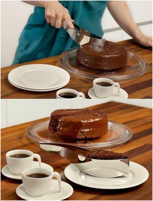 За да нарежете тортата красиво