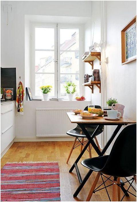 Jadalnia w małej kuchni