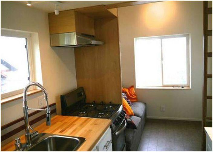 Кухня в мобилен дом.