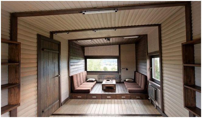 Триетажна вила с плосък покрив