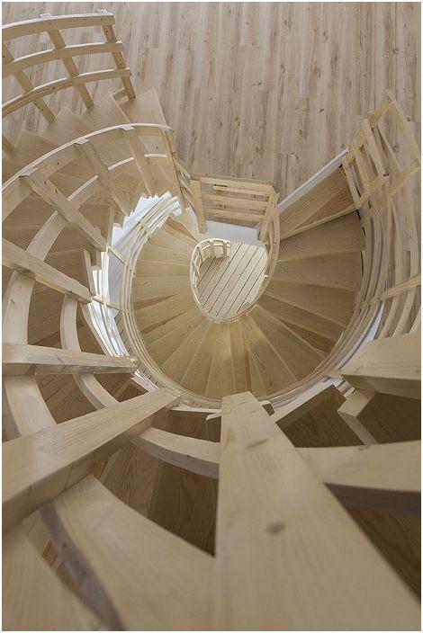 Три гледки / Къща. Спираловидно стълбище.